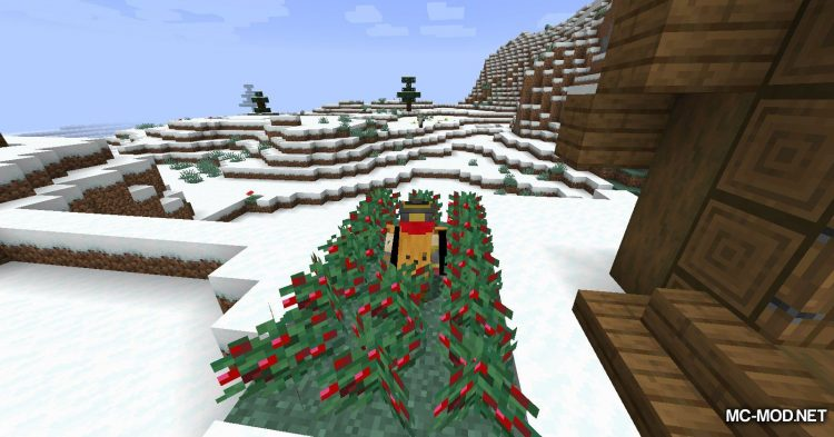 Sneak Through Berries mod for Minecraft (13)