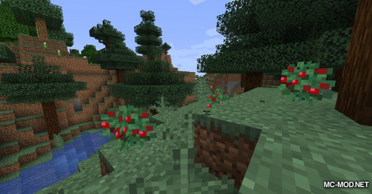 Sneak Through Berries mod for Minecraft (5)