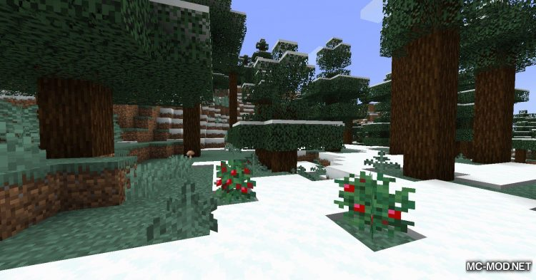 Sneak Through Berries mod for Minecraft (6)