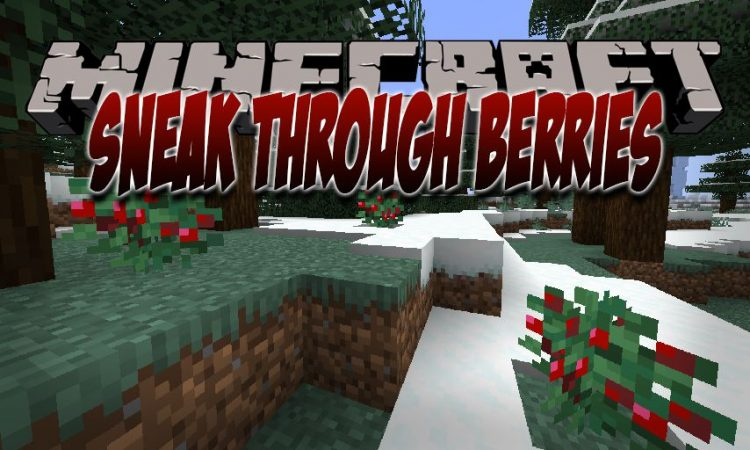 Sneak Through Berries mod for Minecraft logo