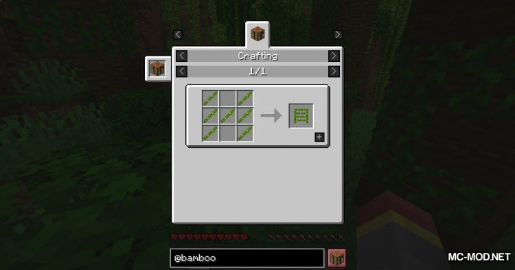 Bamboo Everything mod for Minecraft (5)