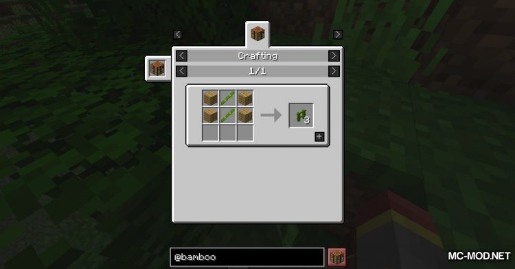 Bamboo Everything mod for Minecraft (8)