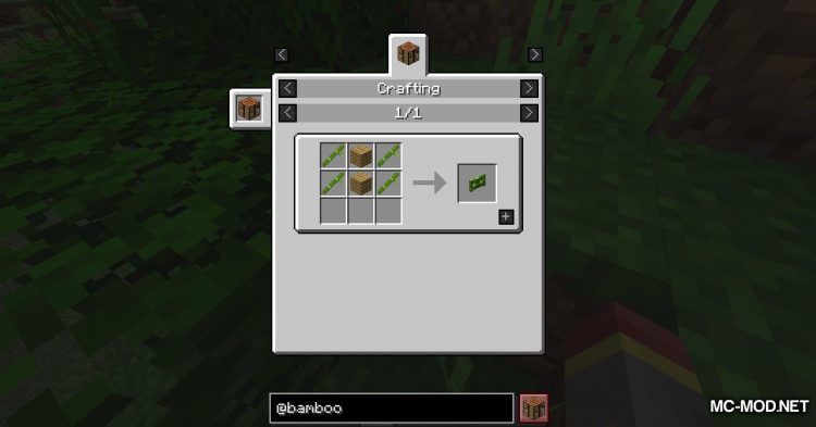 Bamboo Everything mod for Minecraft (9)