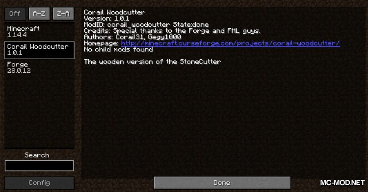 Corail Woodcutter mod for Minecraft (1)