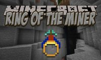 Ring of the Miner mod for Minecraft logo
