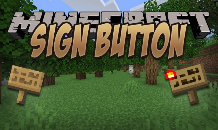 Sign Button mod for Minecraft logo