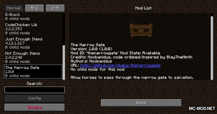 The Narrow Gate mod for Minecraft (1)
