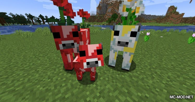 Mooblooms mod for Minecraft (8)