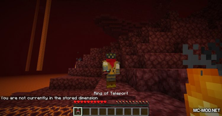 Ring of Teleport mod for Minecraft (11)