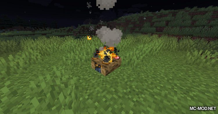 Campfire Incense mod for Minecraft (3)