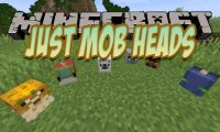 Just Mob Heads mod for Minecraft logo