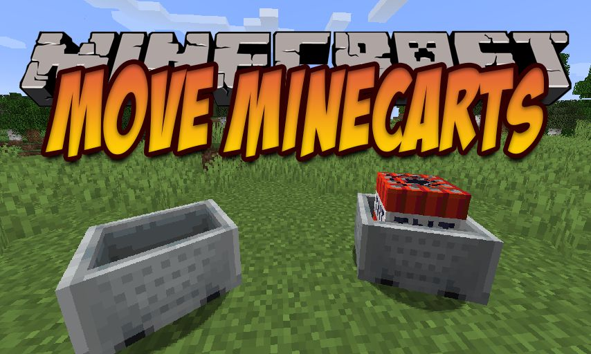 Move Minecarts mod for Minecraft logo