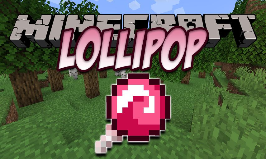 Lollipop mod for Minecraft logo