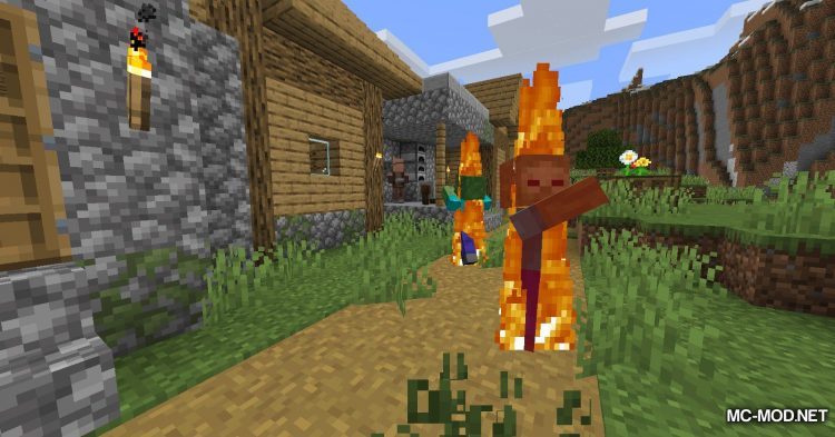 Realistic Fire Spread mod for Minecraft (10)