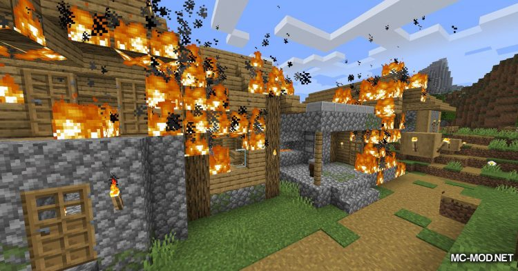 Realistic Fire Spread mod for Minecraft (12)