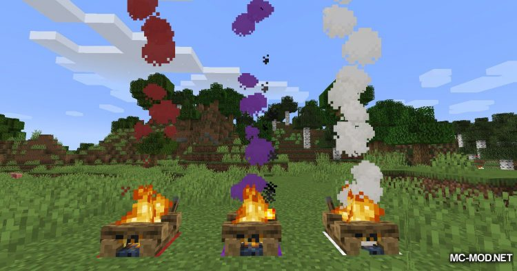 Colorful Campfire Smoke mod for Minecraft (4)