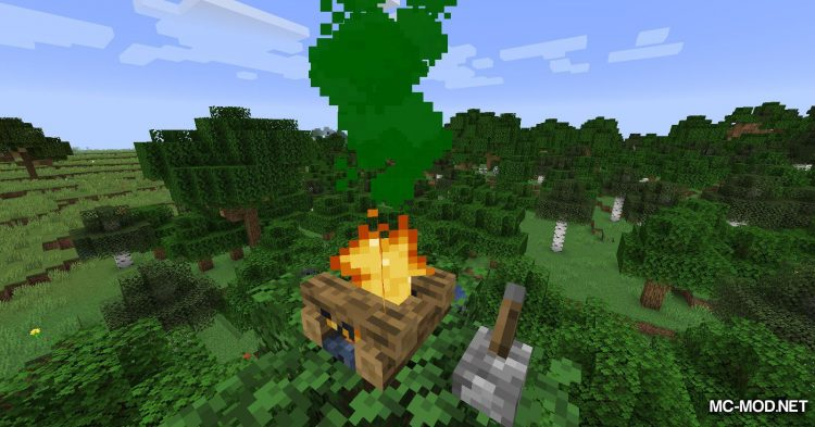 Colorful Campfire Smoke mod for Minecraft (6)