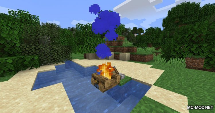 Colorful Campfire Smoke mod for Minecraft (7)