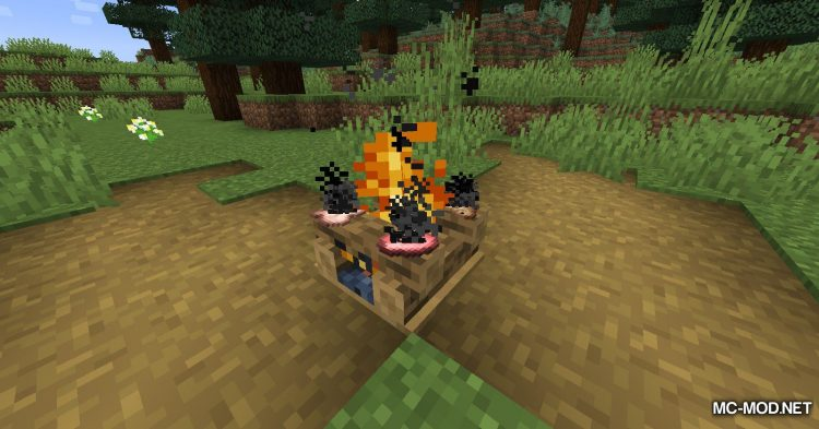 Colorful Campfire Smoke mod for Minecraft (8)