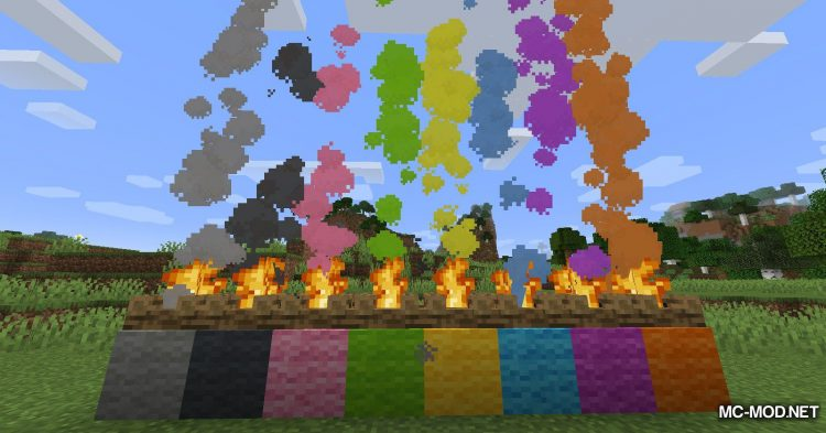 Colorful Campfire Smoke mod for Minecraft (9)