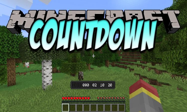 Countdown mod for Minecraft logo