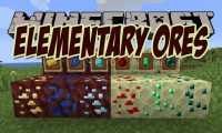 Elementary Ores mod for Minecraft logo