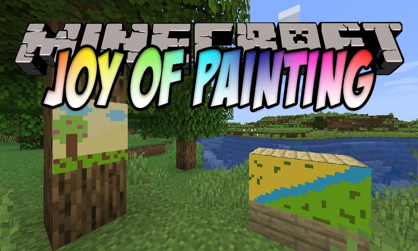 Joy of Painting mod for Minecraft logo
