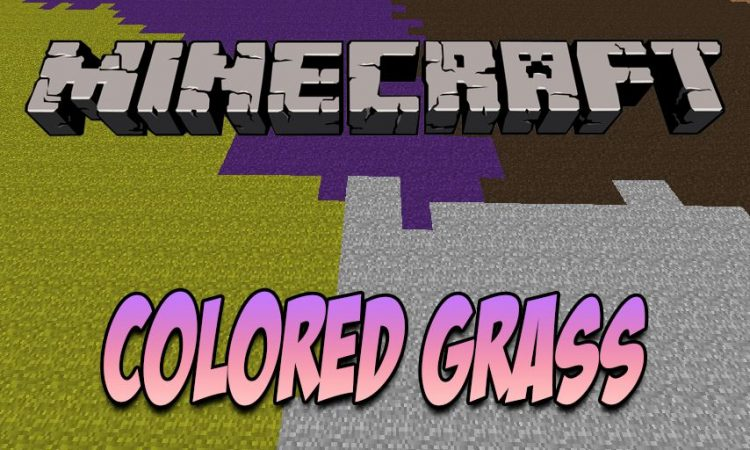 Colored Grass mod for Minecraft logo