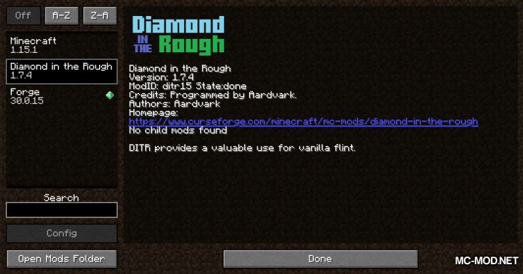 Diamond In The Rough mod for Minecraft (1)