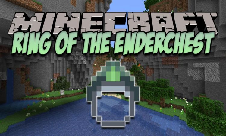 Ring of the Enderchest mod for Minecraft logo