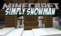 Simply Snowman mod for Minecraft logo