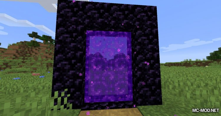 Smaller Nether Portals mod for Minecraft (3)