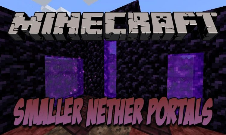 Smaller Nether Portals mod for Minecraft logo