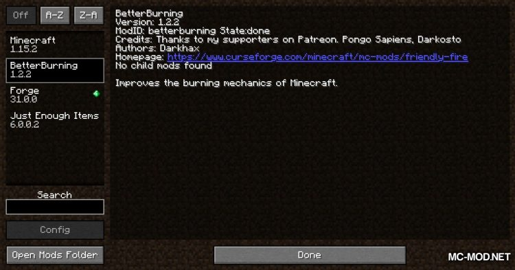 Better Burnings mod for Minecraft (1)