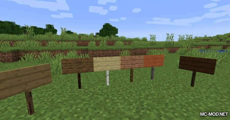 Better Signs mod for Minecraft (2)