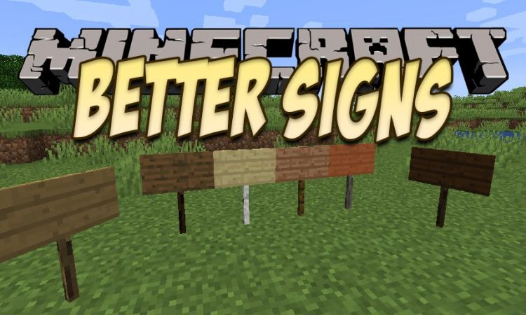 Better Signs mod for Minecraft logo