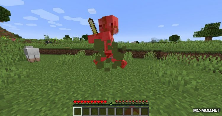 Blood Particles mod for Minecraft (10)