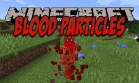 Blood Particles mod for Minecraft logo