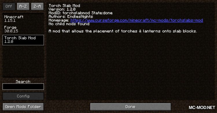 Torch Slabs Mod mod for Minecraft (1)