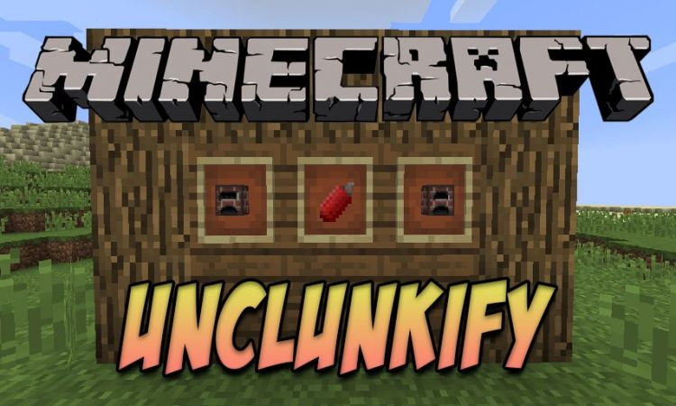 Unclunkify mod for Minecraft logo