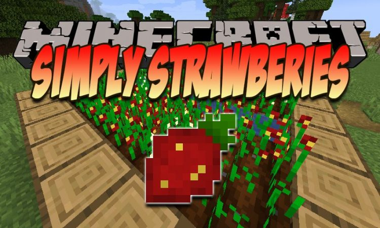 Simply Strawberries mod for Minecraft logo