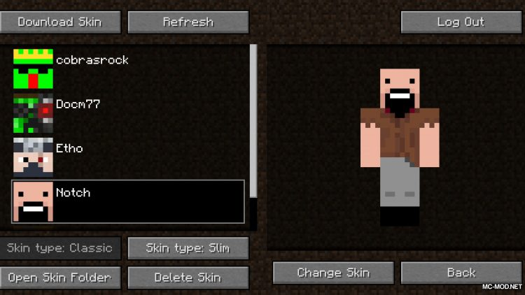 Skin Swapper mod for Minecraft (12)