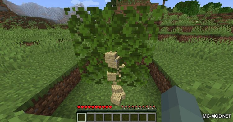 Fabric Passable Leaves mod for Minecraft (14)