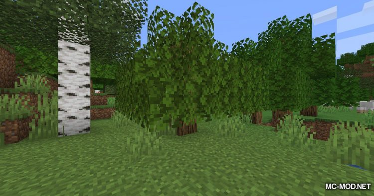Fabric Passable Leaves mod for Minecraft (2)