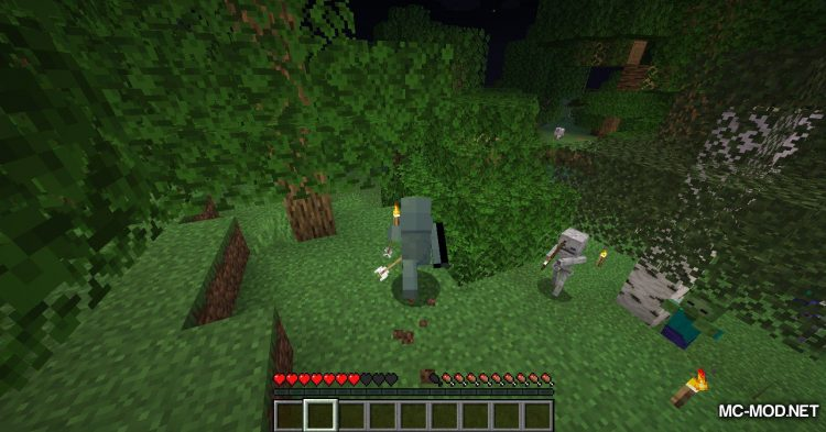 Fabric Passable Leaves mod for Minecraft (9)