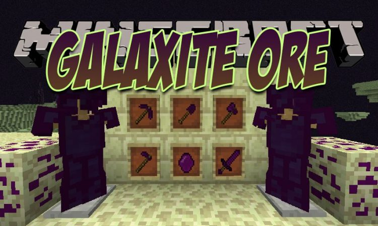Galaxite Ore mod for Minecraft logo