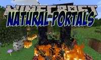 Natural Nether Portals mod for Minecraft logo