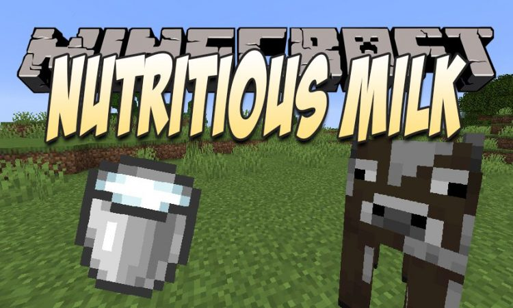 Nutritious Milk mod for Minecraft logo