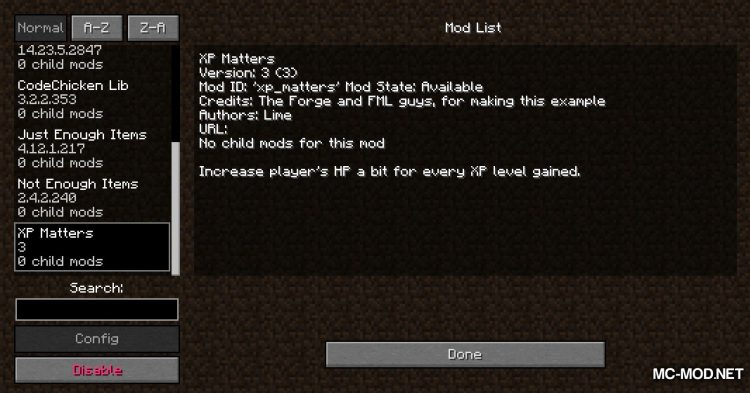 XP Matters mod for Minecraft (1)