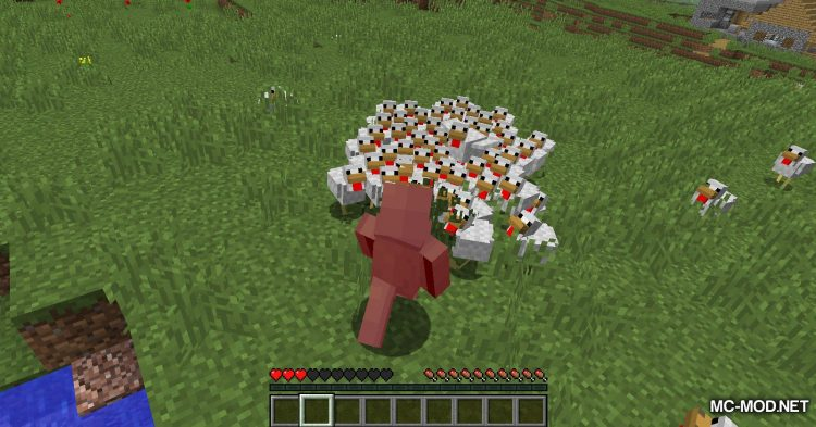 Aggressive Chickens mod for Minecraft (10)